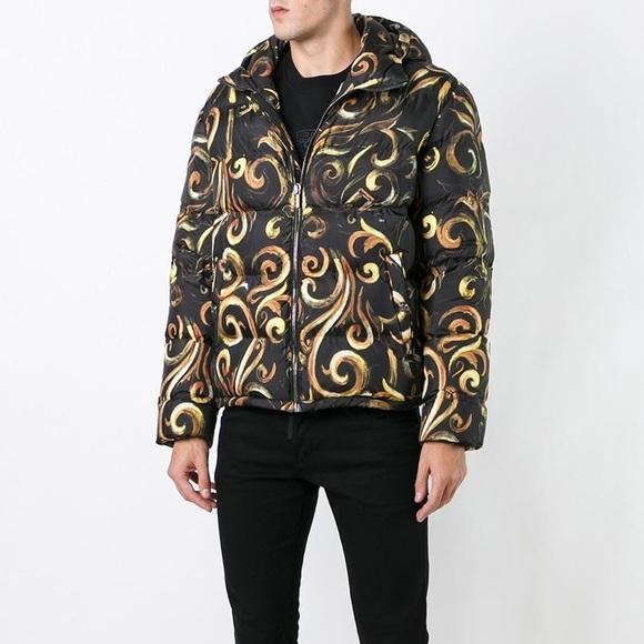 b4fbe32a830 Versace Jackets & Coats   New Barocco Black Gold Down Puffer Jacket ...